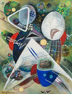 Impression XXXVII (c. 1913-1923) by Rudolf Bauer (German 1889–1953) davidcharlesfoxexpressionism.com #rudolfbauer #expressionism #geometricart #abstract