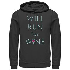 Chin Up - Vino Time - Womens Hoodie Adult Pull-Over Hoodie