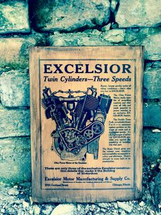 Excelsior Motorcycle Sales Brochure