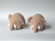 Amigurumi elephants.