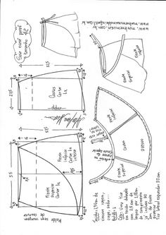 Saia envelope (pareô) - DIY - molde, corte e costura - Marlene Mukai Sewing Basics, Sewing Hacks, Sewing Tutorials, Sewing Projects, Techniques Couture, Sewing Techniques, Skirt Patterns Sewing, Clothing Patterns, Diy Clothing