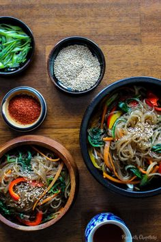 Chewy Korean Glass Noodles (Chap Chae/Jap Chae)