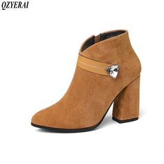 Find More Ankle Boots Information about QZYERAI Autumn/winter women's boots boots with coarse heels warm and fashionable shoes women's shoes with water drill size 34 43,High Quality Ankle Boots from Shop GG Store on Aliexpress.com Block Heel Shoes, Yellow And Brown, Ankle Boots, Women's Boots, Fashion Boots, Heeled Mules, Shoes Heels, Womens Fashion, Drill
