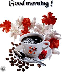 Coffee The Effective Pictures We Offer You About jungkook GIF A quality picture can tell you many things. You can find the most beautiful pictures that can be presented to you about GIF wallpaper in t Good Morning Wishes Gif, Good Morning Gift, Good Morning Love Gif, Good Morning Coffee Gif, Good Morning Angel, Good Morning Beautiful Images, Morning Greetings Quotes, Morning Blessings, Good Morning Flowers