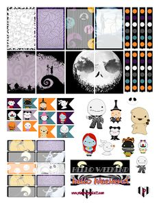 Nightmare Before Christmas FREE halloween Planner Sticker…