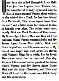 Francesca Lia Block. excerpt from my favorite book of all time: Weetzie Bat.