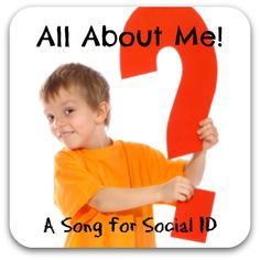 All About Me: A Song for Social ID - an interactive songwriting experience to help kids practice answering important social identification questions. Music Therapy Activities, Preschool Activities, Therapy Tools, Therapy Ideas, All About Me Preschool, Friendship Songs, Parkinson's Disease, Help Kids, My Themes