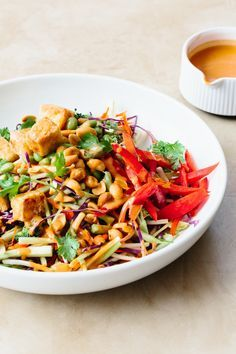 Recipe: Tofu and Broccoli Salad with Peanut Butter Dressing — Sunday Night Salads