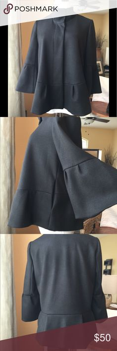 Diane von Furstenberg black merino jacket sz 8 Black merino wool jacket, fully lined. 2 slit pockets. New without tags condition! Diane Von Furstenberg Jackets & Coats Blazers