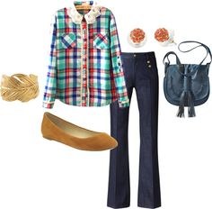 """""""Plaid and Lace"""" by megangordon on Polyvore"""