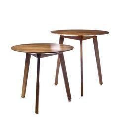 Home Republic Dane Side Tables Oak, bedside table, tripod table $86