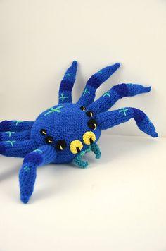Big Fat Spider Crochet Pattern Large Spider by VliegendeHollander