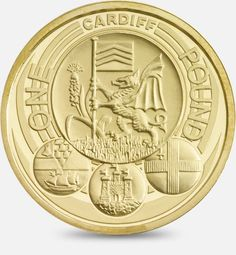 2011 £1 (One Pound) Coin featuring a depiction of the official badges of the capital cities of the United Kingdom, with the badge of Cardiff being the principal focus #CoinHunt