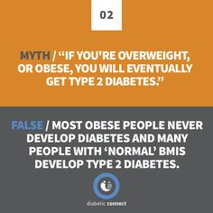 Not all people with obesity will develop type 2 diabetes, and not all people with type 2 diabetes will be overweight. #DiabetesAwarenessMonth