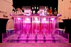 So Cool Events created an ice and moving-water bar for one corner of the after-party.