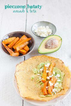 Naleśniki z mąki z ciecierzycy z batatami, avocado i fetą II Cooking for Emily