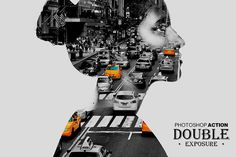 Double Exposure Action by GraphicShop on @creativemarket