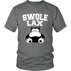 Pokemon Snorlax Swole Lax Shirt. Available in other colors and sizes!