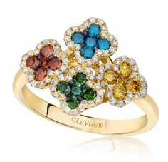 Le Vian Multi Colored Flower diamonds ... Perfect for spring  madison-jewelers.com