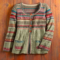 Pirot Cotton Cardigan - One of Serbia's most significant craft traditions are kilims, or flat woven rugs, made in the historic southeastern town of Pirot.Flamingo shorts Totally my sporty chic style Jean shorts tank sneakers backpack Perfect for a summe