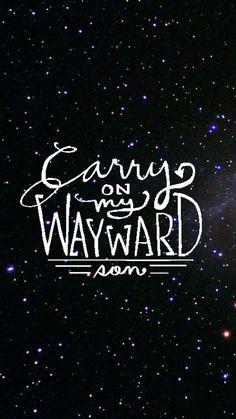 Wallpaper Lockscreen Supernatural (Carry On My Wayward Son)