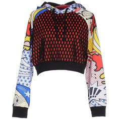 Adidas Originals Sweatshirt ($100) ❤ liked on Polyvore featuring tops, hoodies, sweatshirts, red, colorful tops, adidas originals sweatshirt, red white top, white top and pocket sweatshirt