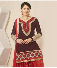 Chanderi Silk Suit with Dupatta | I found an amazing deal at fashionandyou.com and I bet you'll love it too. Check it out!