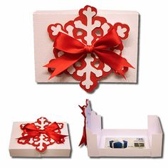 Bits of Paper: Holiday Gift Card Boxes