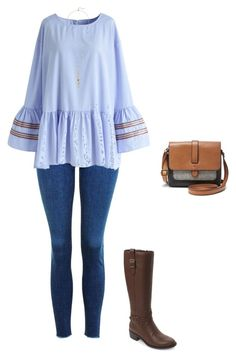 """Untitled #532"" by taylor-edmonds on Polyvore featuring Topshop, Chicwish, Cole Haan and FOSSIL"