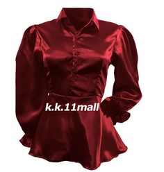 Satin Victorian Shirt For Women Special Shirt Long Christmas Recital Special Grey Colour Shirt, Red Color, Maroon Color, Casual Office Wear, Casual Wear, Victorian Shirt, Half Sleeve Shirts, Satin Shirt, Shirts For Girls