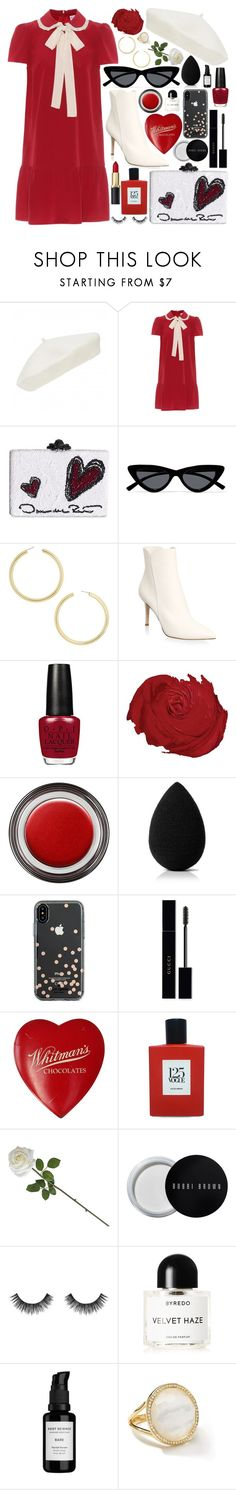 """Untitled #1100"" by douxlaur ❤ liked on Polyvore featuring Forever New, RED Valentino, Oscar de la Renta, Le Specs, BaubleBar, Gianvito Rossi, John Lewis, beautyblender, Kate Spade and Gucci"