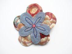 capas de tela flor ramillete pin insignia broche broche