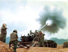 175 mm, South Vietnam, 1968 We were guarding a battery of Army 175s below Camp Carroll near Khe Sahn.