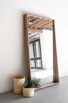 Living Room Mirrors, Living Room Decor, Bedroom Decor, Wall Mirrors, Full Length Mirror Living Room, Big Mirror In Bedroom, Full Length Wood Mirror, Floor Mirrors, Wood Framed Mirror