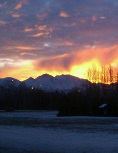 Anchorage Alaska sunrise