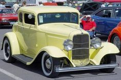 1932 model ford coupe yellow