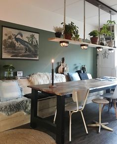 Esszimmer Dining room plants decoration idea Make The Most Of Your Dining Room Sets, Dining Room Lighting, Dining Room Design, Dining Room Furniture, Furniture Sets, Room With Plants, Plant Decor, Interior Design Living Room, Room Decor