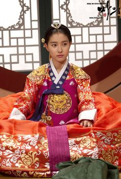 "Korean princess from the korean series called the ""horse doctor"". Hanbok dress"