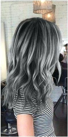 """Search Results for """"highlights for dark hair going grey highlights for dark hair going grey love the charcoal base with lighter highlights gray hair charcoal hair granny hair looking for hair extensions to refresh your hair look instantly"""" Charcoal Hair, Pretty Hairstyles, Hairstyle Ideas, Perfect Hairstyle, Short Hair Styles, Grey Hair Styles, Hair Makeup, Hair Beauty, Perfect Image"""