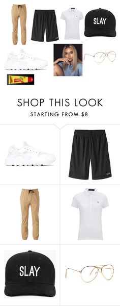 """Lesbi Look"" by zyriajones ❤ liked on Polyvore featuring NIKE, Hollywood the Jean People, Polo Ralph Lauren, Boohoo and Carmex"