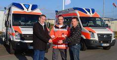 Neue DRK-Rettungswagen f�r die Motorsport Arena