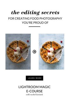 Learn how to create gorgeous food photos with editing secrets in Lightroom. Join this masterclass to create food photography you& proud of. Food Photography Lighting, Photography Lessons, Learn Photography, Photography Editing, Creative Photography, Digital Photography, Photography Ideas, Photo Editing, Photography Backgrounds