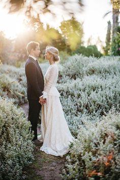 Vintage Inspired Garden Wedding Portraits | Kikitography on @limnandlovely