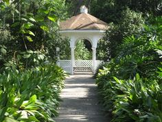The gazebo in the woods (S.W. Gazebo) is a great venue for an intimate destination wedding, vow renewal or baby dedication.