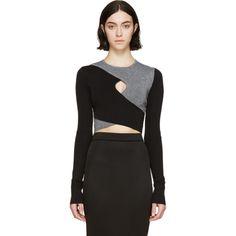 e352933799d Dion Lee - Haut contrasté noir et gris Milano Дион Ли