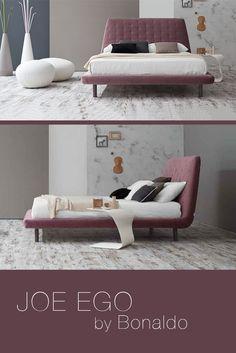 Designed by Mauro Lipparini for Bonaldo, Joe Ego is elegant bed design to evoke an  essential and pure silhouette.