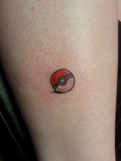 Tiny pokeball tattoo pokemon instagram@anarchy_alex