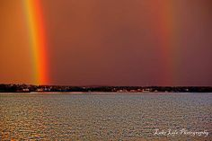 Double Rainbow on Eagle Mountain Lake Texas