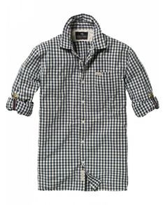 Suspenders rolled-up sleeve checkered shirt - Shirts - Scotch & Soda Online Shop