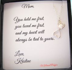 MOM Necklace To MOM from Daughter Christmas by SoBlessedDesigns